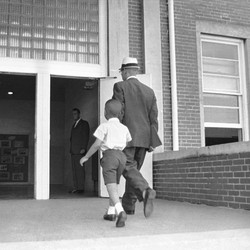 Sonnie Hereford and his dad walked to Fifth Avenue School on September 3, 1963, when Sonnie was 6.