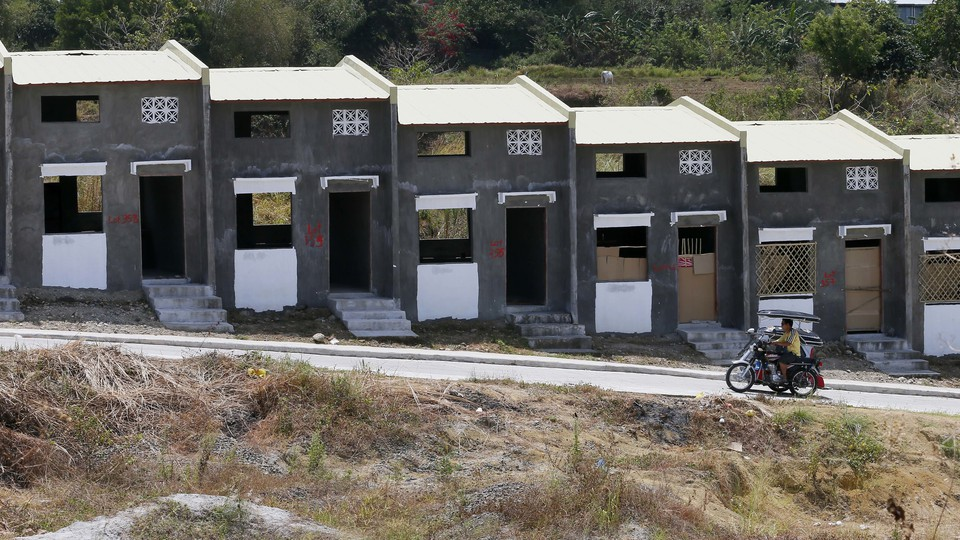 A housing project in the Philippines