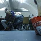 Homeless individuals inside a shelter in Vienna in 2010