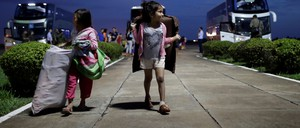 Venezuelan refugees arrive at Boa Vista Airport in Brazil.