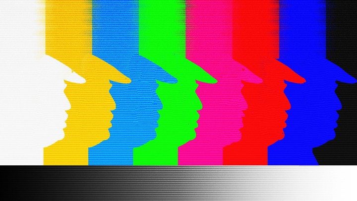 Abstract rendering of President Trump on a TV screen
