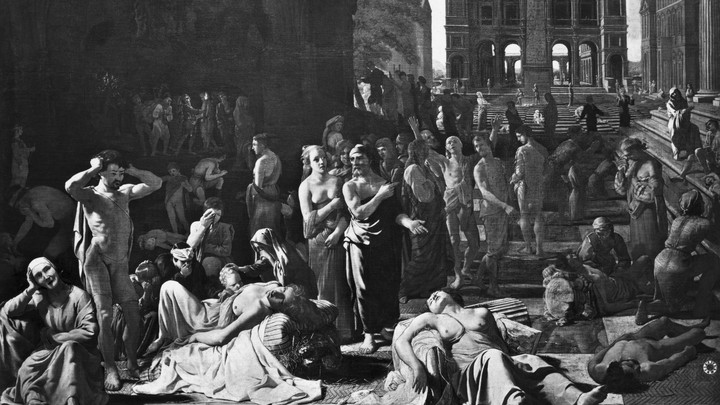 The Athenian Plague painting by Nicolas Poussin