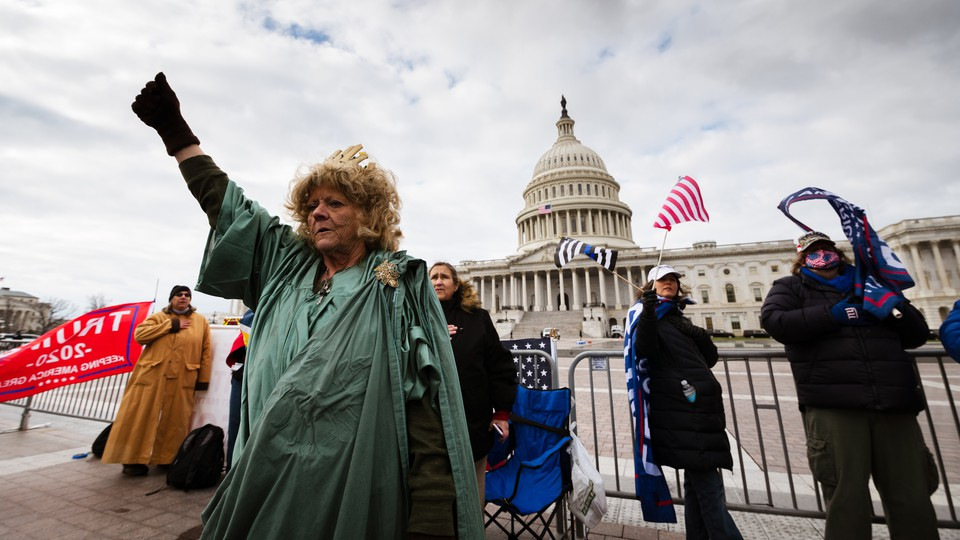 People in a pro-Trump mob near the U.S. Capitol