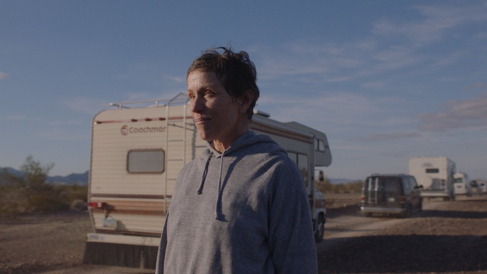 """A still from """"Nomadland"""" of Frances McDormand's character, Fern"""