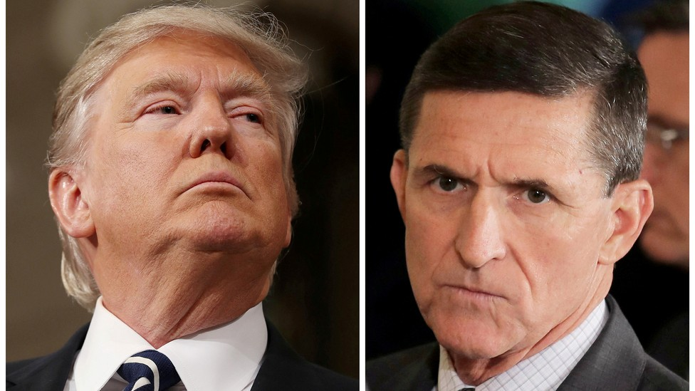 President Trump and former National-Security Adviser Michael Flynn