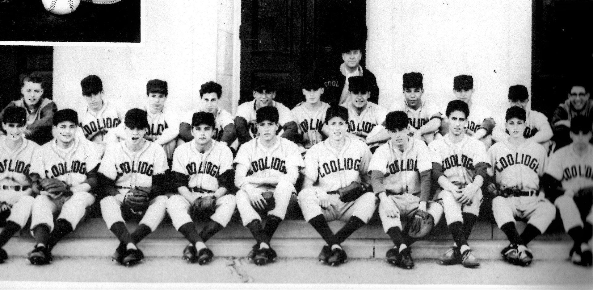 Price, pictured in the top row, fourth from the right, on the baseball team at Coolidge in his senior year