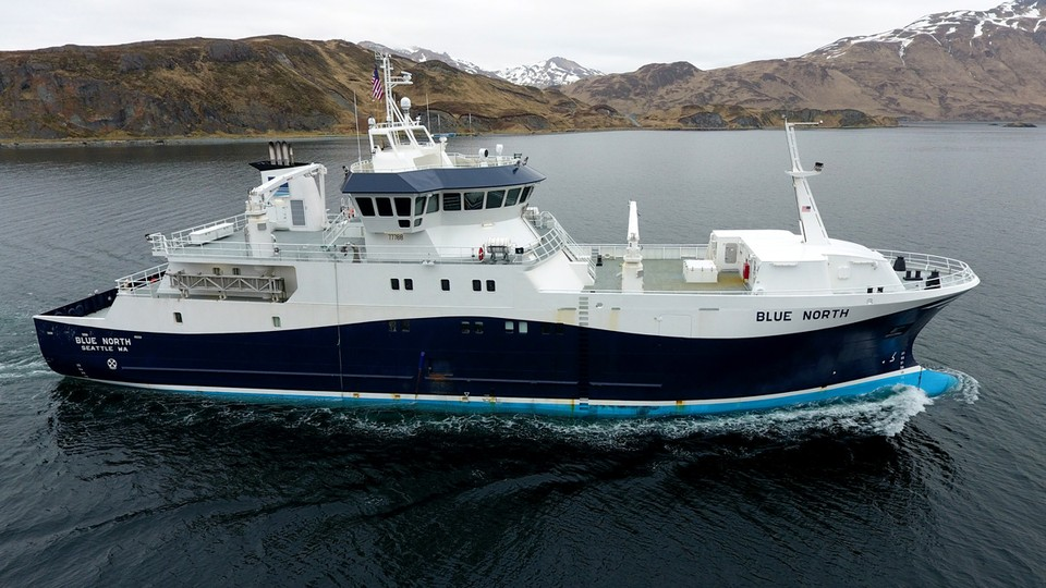 The Blue North fishing boat includes a high-tech stunner for more humane fishing.