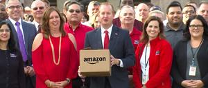 A screnshot from Frisco's Amazon bid video.