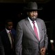 South Sudan President Salva Kiir arrives at the national palace to negotiate with the South Sudan rebel leader Riek Machar on June 20, 2018.