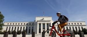 A cyclist in Washington, D.C.
