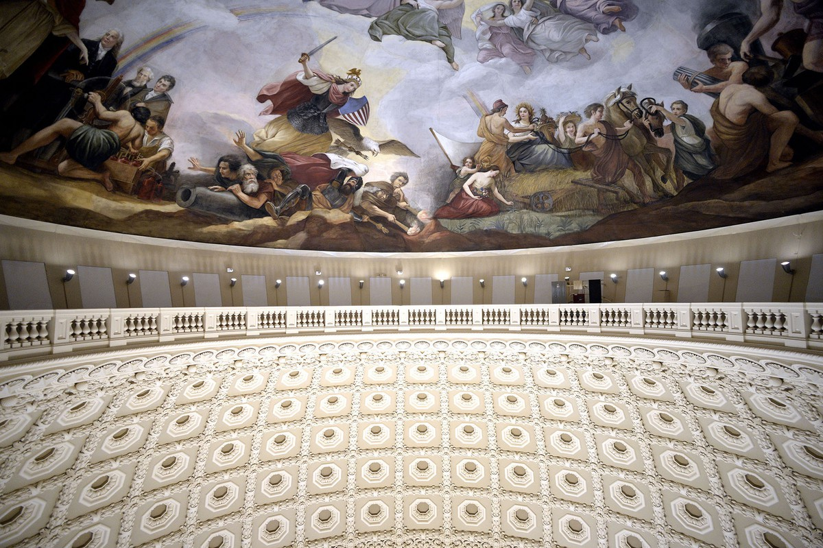 The Restoration Of The United States Capitol Dome The Atlantic