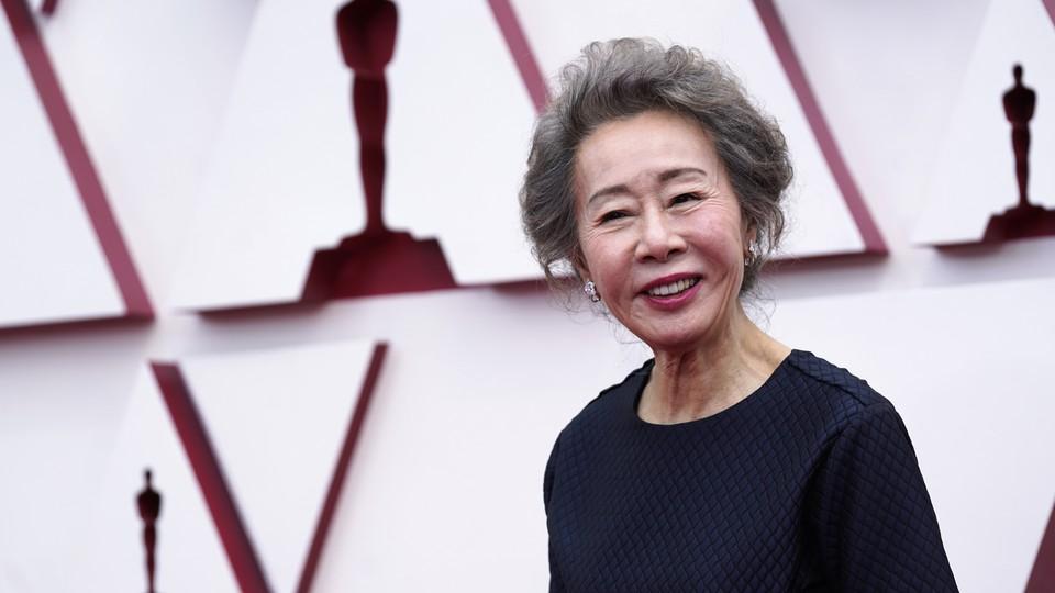 Youn Yuh-jung at the 93rd Oscars
