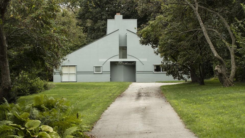 The Vanna Venturi House, designed by the architect Robert Venturi for his mother, in the Chestnut Hill neighborhood of Philadelphia