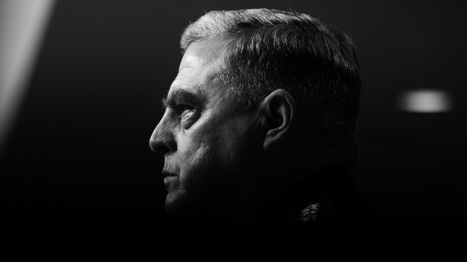 A photograph of the chairman of the Joint Chiefs of Staff Mark Milley