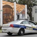A photo of a Baltimore police car.
