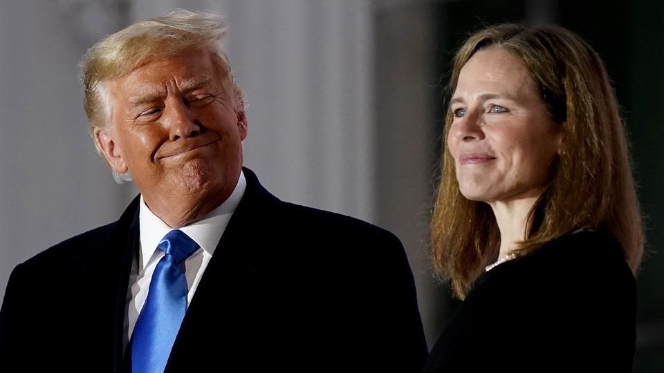 Donald Trump and Amy Coney Barrett