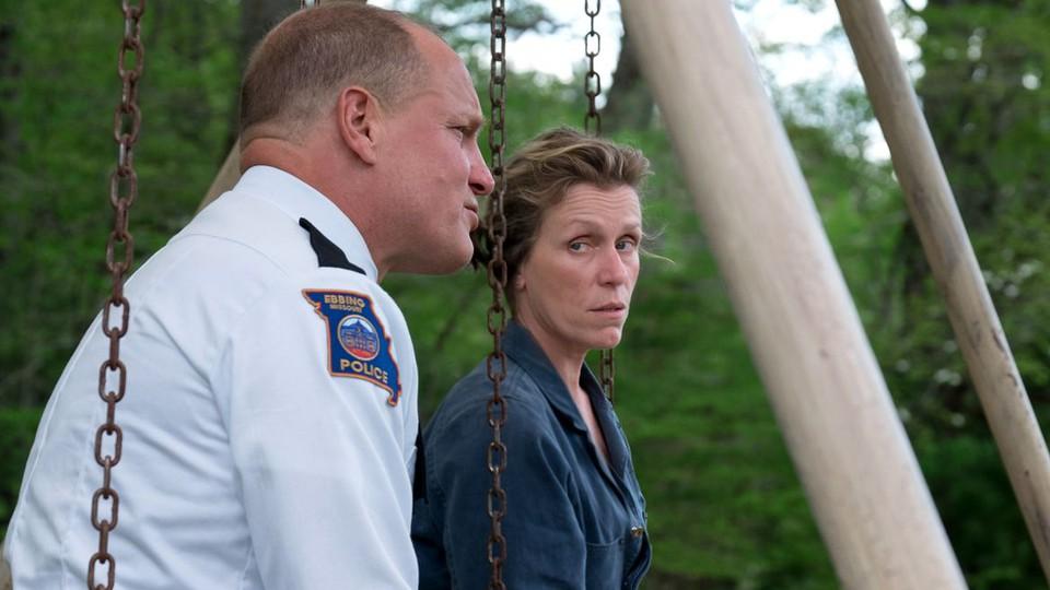 Woody Harrelson and Frances McDormand in 'Three Billboards Outside Ebbing, Missouri'