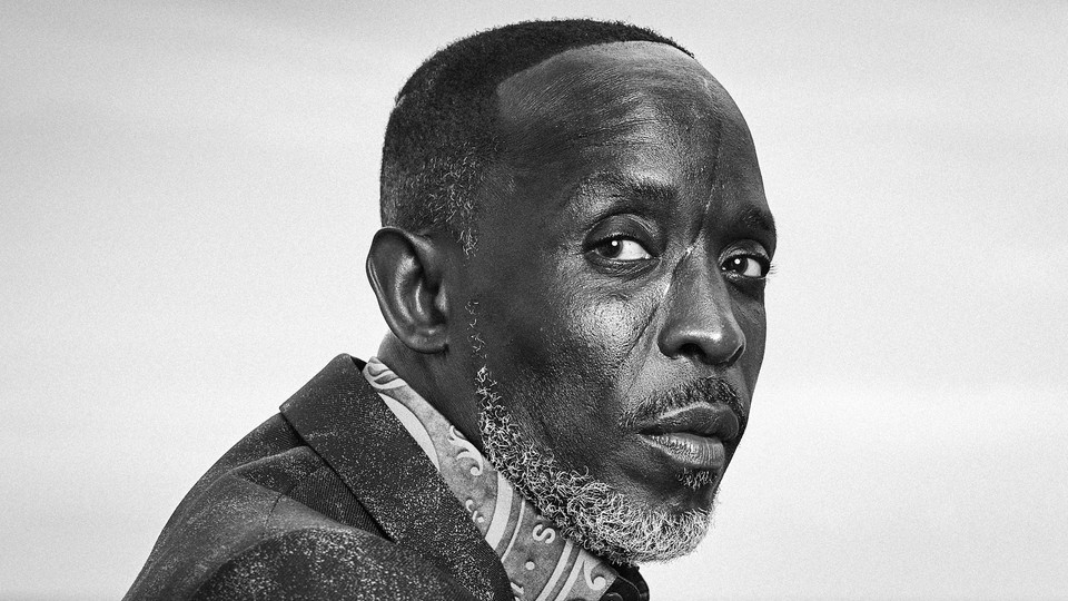 A portrait of the late actor Michael K. Williams
