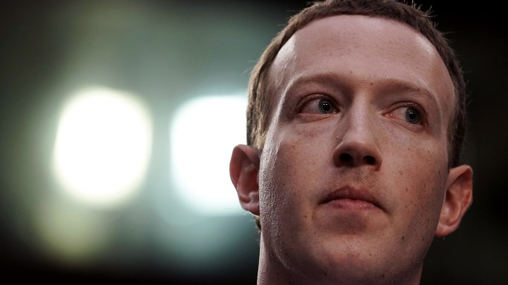 Mark Zuckerberg looking to the side