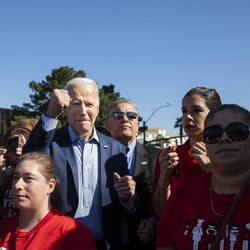 Joe Biden with a group of people