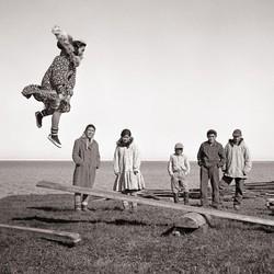 Children playing in Kotzebue, Alaska
