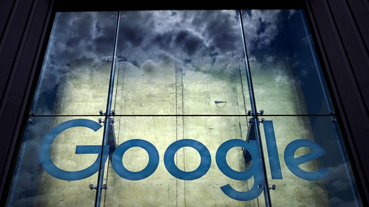 A photo of the Google sign