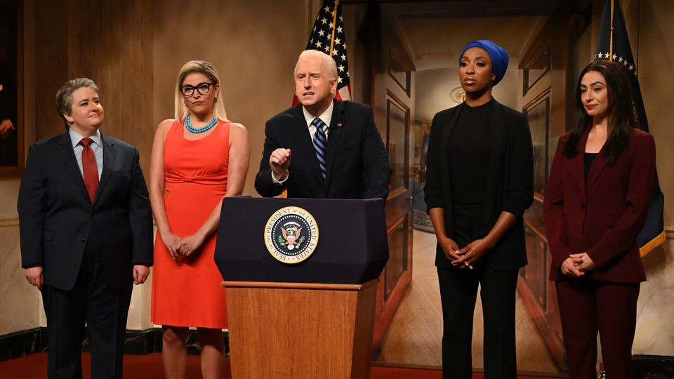 'Saturday Night Live' opens its 47th season with a Joe Biden-themed political cold open.