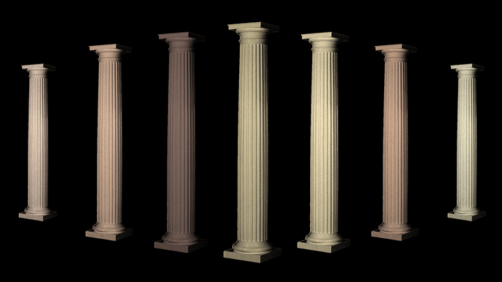 An illustration of columns of different colors