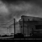 A photo of the Sparrows Point steel mill