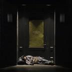 A man sleeps in a doorway in downtown Portland, Ore., on Sept. 19, 2017.