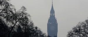 Haze covering Big Ben