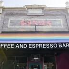 Facade of Cuties cafe in Los Angeles.