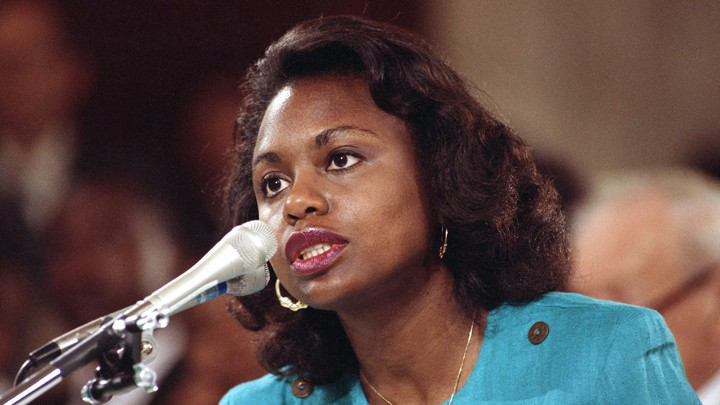 Anita Hill testifies to the Senate Judiciary Committee.