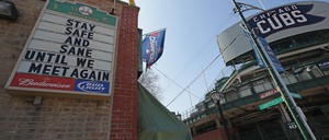 photo: Wrigley Field In Chicago on Opening Day 2020.