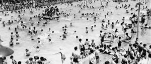 kids in a a pool, 1938