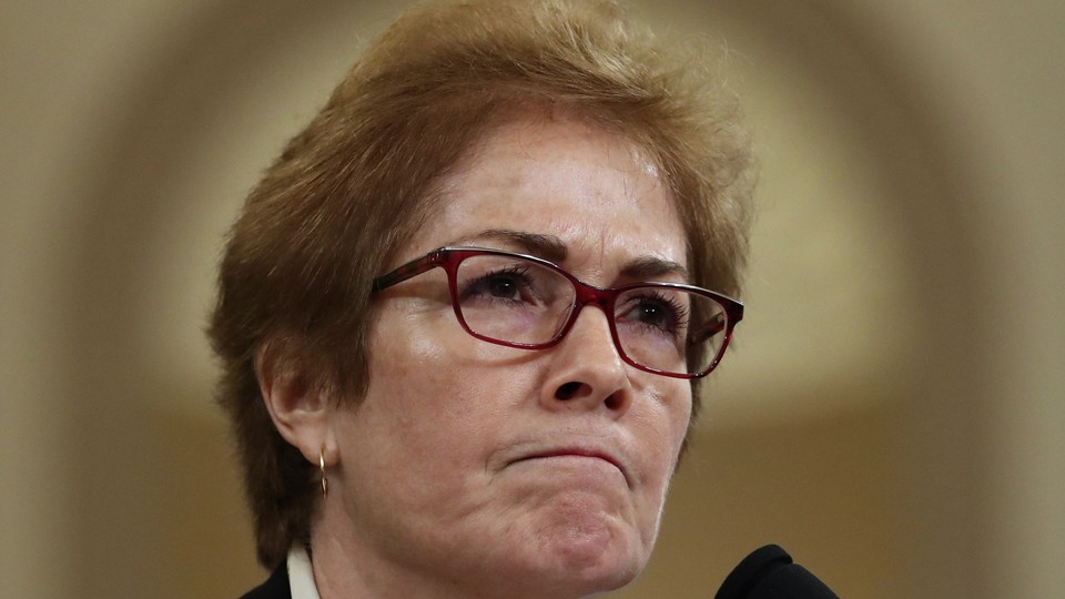 Former U.S. Ambassador to Ukraine Marie Yovanovitch testifies before the House Intelligence Committee.