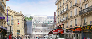 a photo of the Gare Du Nord as it will look from Rue de Saint-Quentin after redevelopment.