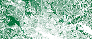 A map of Baltimore and its surrounding leafy suburbs.