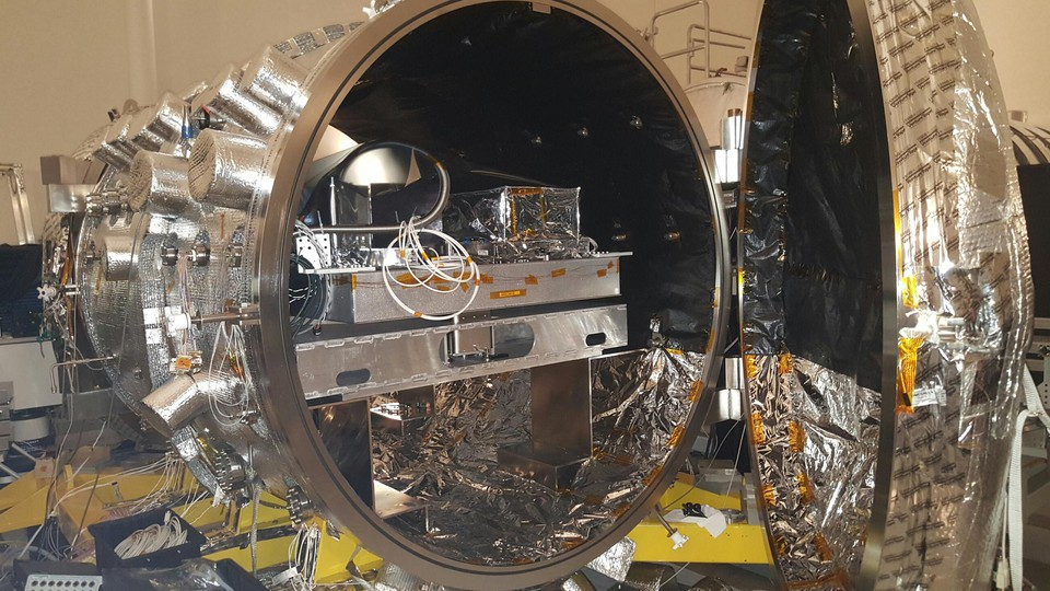 The vacuum chamber at NASA's Jet Propulsion Laboratory