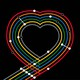 A heart made out of schematic subway lines