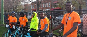 Slow Roll Chicago riders in West Humboldt Park neighborhood on the West Side of Chicago in 2015.