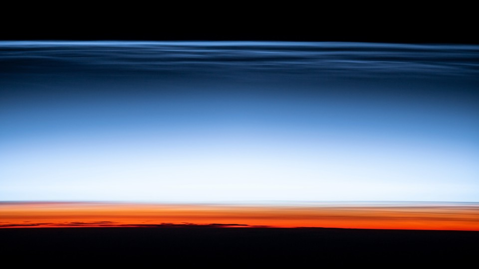 A view of the hazy boundary between Earth's atmosphere and space