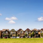 Houses are seen in a suburb located north of Toronto in Vaughan, Canada.