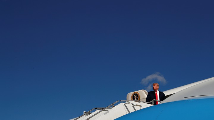 Donald Trump boards Air Force One