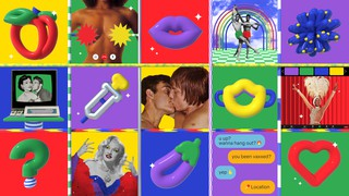 A collage of images related to online hookup culture during the pandemic.