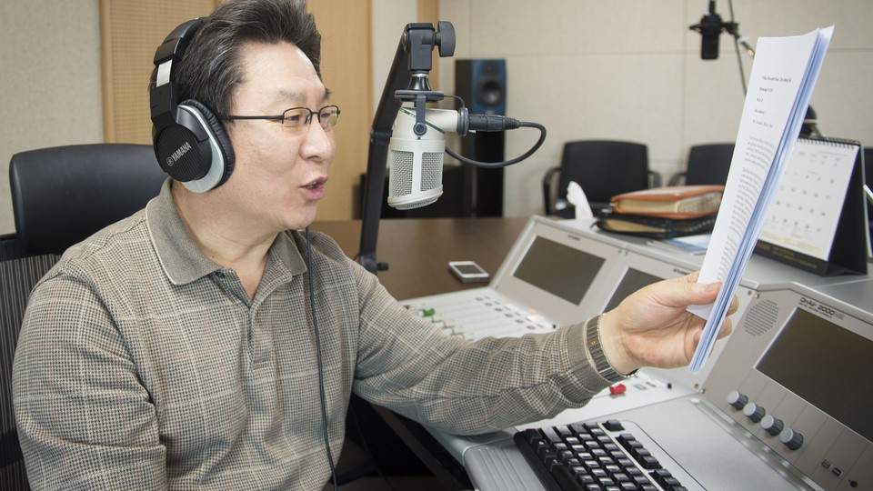 Chung Soo Kim is a radio host who has worked with the Far East Broadcasting Company for more than 20 years. (Alan Mittelstaedt)