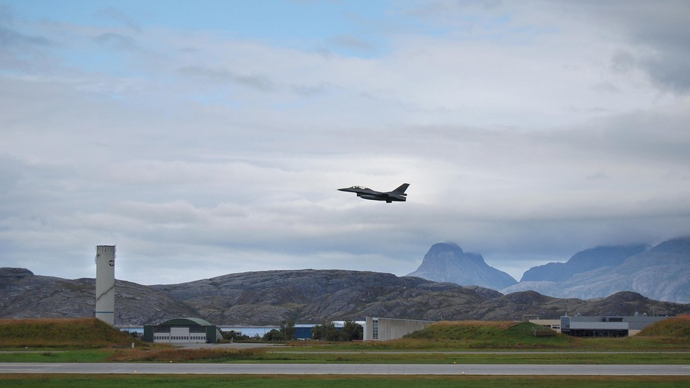 The aircraft base in Bodø, northern Norway