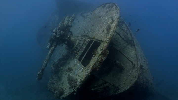 The wreck of the S.S. Thistlegorm, which sank on October 5, 1941, in the Red Sea