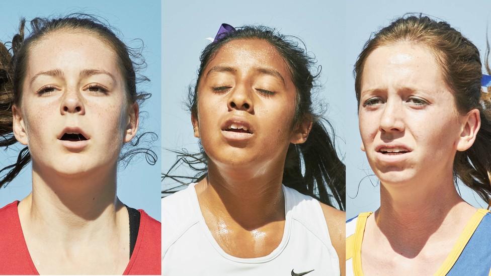 Female high school cross country runners