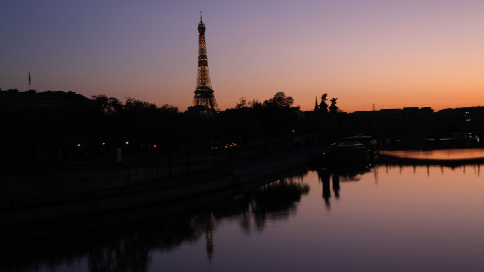 Photo of Paris at dusk